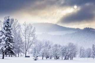 Parcours enseveli sous la neige