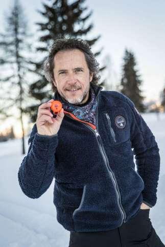 Philippe Guilhem avec la polaire Napapijri